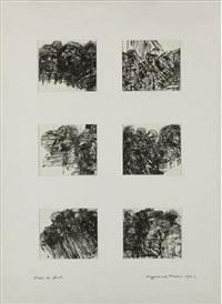 dans la foule (6 works on 1 mount) by raymond mason