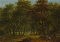 waldlandschaft by franz joseph manskirch