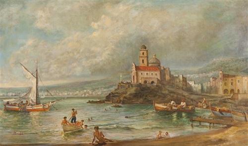 view of naples by eduardo monteforte