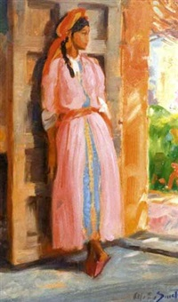 jeune femme marocaine by charles ernest smets