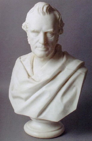 portrait bust william gladstone by william brodie
