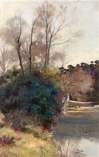 paisaje de río by josé pinelo llull