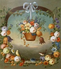 basket in arch by jeannine albert