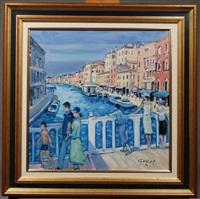 ponte sur le canal di san pietro à venise by pierre godet