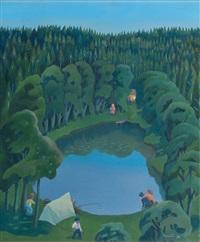 the forest pond by pirkko lepisto