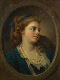 portrait of a girl by jean françois gilles colson