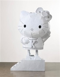 wind-up hello kitty by tom sachs