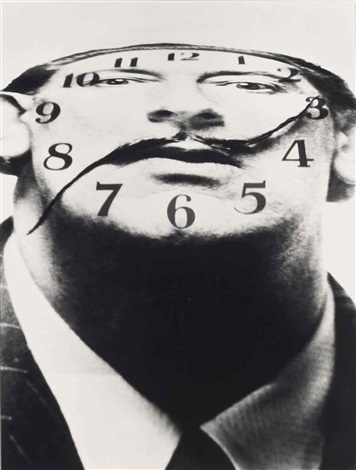 dali clockface by philippe halsman