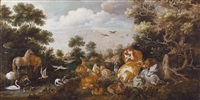 paradieslandschaft by gillis claesz de hondecoeter
