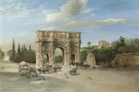 constantin's triumphal arch, rome by martin weblus