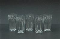gruppo di diciotto bicchiere by baccarat