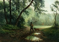 landscape with sportsman by eugen reichenbach