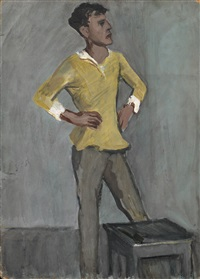 young man in a yellow shirt by meier akselrod