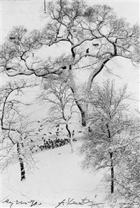 washington square (winter) by andré kertész