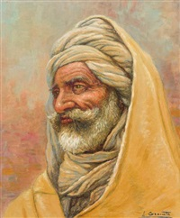 portrait d'homme au turban by louis granata