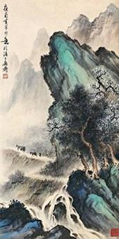 春山流泉 by huang huanwu