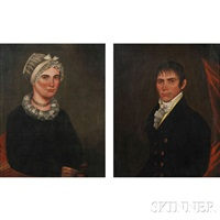 pair of portraits of mr. daniel spraker and his wife eliza by american school (19)