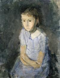 meisje in blauw by hippolyte daeye
