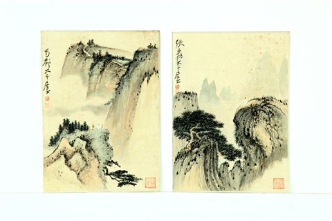 observing the waterfall 2 works by zhang daqian