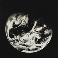 untitled (home, earth 4) by robert longo