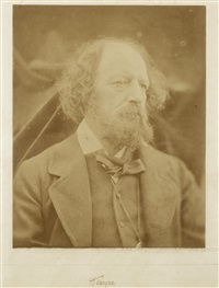 portrait of alfred tennyson (1809-1892) by julia margaret cameron