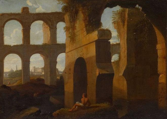 römische ruinenlandschaft by cornelis van poelenburgh