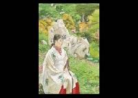 shinto maiden by hakutei ishii