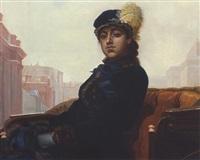 junge dame in der kutsche by ivan nikolaevich kramskoy
