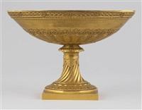 coupe milieu de table sur piédouche by percier et fontaine