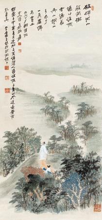 仿石涛山水 landscape by zhang daqian