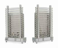 a pair of glass and chromed metal radiator lamps by anonymous (20)