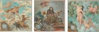 douze allégories représentant les mois de l'année (12 works) by frédéric théodore lix