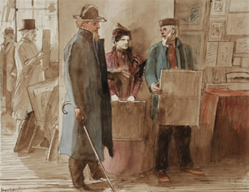 chez le marchand de tableaux by oswald heidbrink