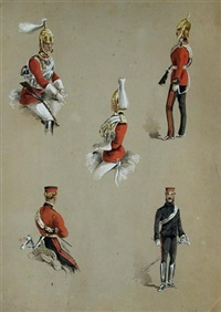 studies of life guards by reginald augustus wymer