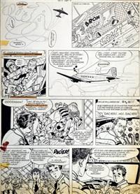 marc dacier - planche 10 de l'album a la poursuite du soleil édité par dupuis en 1961 by eddy paape
