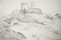 ansicht der burgruine königstein im taunus by friedrich eugen peipers