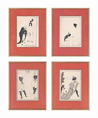 erotic scenes 4 works by aubrey vincent beardsley