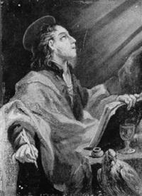 der evangelist johannes auf patmos die apokalypse niederschreibend by bartholomäus altomonte