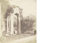 an arch at margam abbey (+ 3 others, incl. 1 albumen print; 4 works) by john dillwyn llewelyn