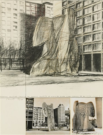 wrapped sylvette project for picassos sylvette at washington square village by christo and jeanne claude
