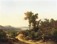 motivo apresso il lago trasimeno: a view of lake trasimeno, italy by guido agostini