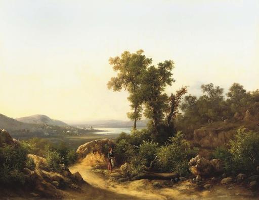 motivo apresso il lago trasimeno a view of lake trasimeno italy by guido agostini