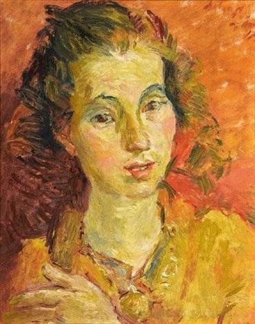 portrait einer jungen frau by alexander leo soldenhoff