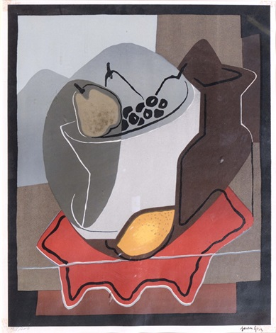 nature morte aux fruits by juan gris