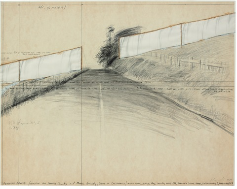 running fence project for sonoma country and mavin country state of california by christo and jeanne claude