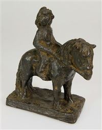 milena auf einem pony by mari silvester andriessen
