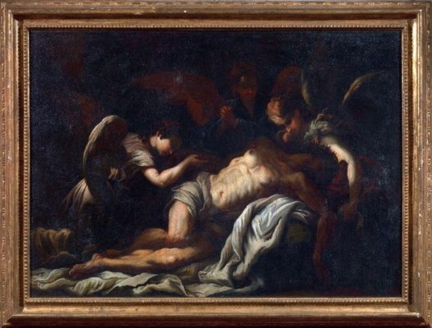 cristo morto e angeli by bartolomeo biscaino