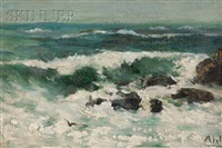 rocky coastal surf by henry curtis ahl