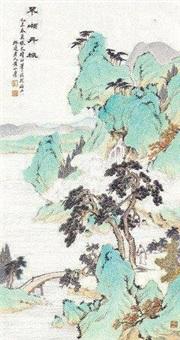 翠岭丹枫 by huang shanshou