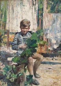 ragazzo in giardino by giovanni fusco